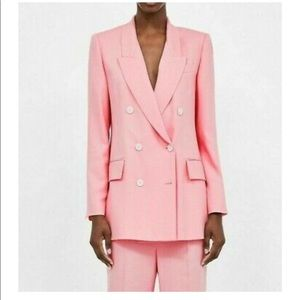 NEW ZARA Double Breasted Pink Blazer Blogger Fave